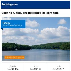 [Booking.com] Hawley, Cap Estate, or Paris? Get great deals, wherever you want to go