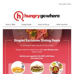 [HungryGoWhere] Satisfy your belly with Singtel deals: 1-for-1 signature sandwich/mains/pasta, 50% off fresh seafood set, and more!