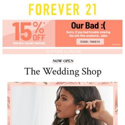 [FOREVER 21] THAT TIME OF YEAR 👰