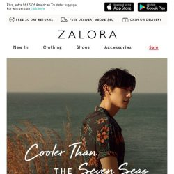 [Zalora] Your trip is confirmed! ☀️ Pack your bags, let's go!