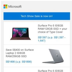 [Microsoft Store] Tech Show Sale is now on: Skip the queue and SHOP NOW >