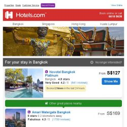 [Hotels.com] Great properties in Bangkok - Book Now!