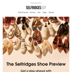 [Selfridges & Co] 30% off spring/summer shoes. Go on treat yourself