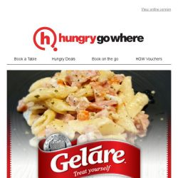 [HungryGoWhere] 50% Off Creamy Chicken Ham Penne OR Mac & Cheese - Your Perfect Weekend Treat by Geláre
