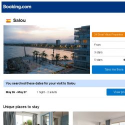 [Booking.com] Deals in Salou from S$ 18