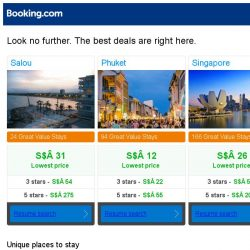 [Booking.com] Salou, Phuket and Singapore -- great last-minute deals as low as S$ 12!