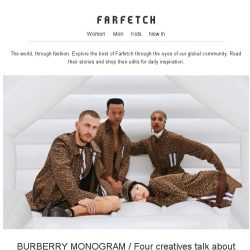 [Farfetch] From Burberry to fancy bags. Here's what's new