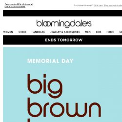 [Bloomingdales] Save up to 70%--ends tomorrow!