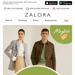 [Zalora]  Retail Therapy: 20% Off Everything!