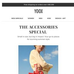 [Yoox] Accessories for summer!