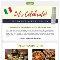 [CaterSpot] Italian feasts to try this June!