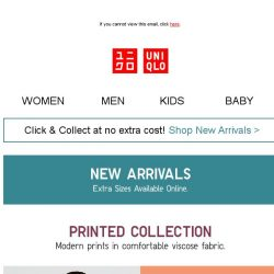 [UNIQLO Singapore] Chic looks with our printed collection.