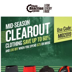 [Chain Reaction Cycles] Clothing: 60% Off  + 