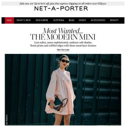 [NET-A-PORTER] Mini dresses with mighty style points. Plus up to 60% off sale