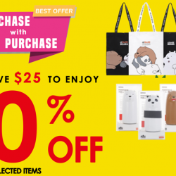 Miniso: Enjoy 30% OFF Selected Items When You Spend Above SGD25!