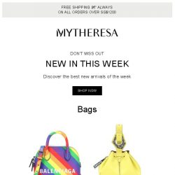 [mytheresa] Don't miss out: 692 new arrivals this week