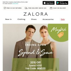 [Zalora] Your Last Day  Extra 40% Off!