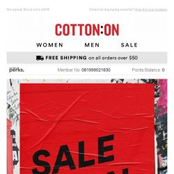 [Cotton On] Four words: 50% OFF. BEST-SELLERS 