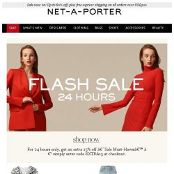 [NET-A-PORTER] 24 hours only: get an extra 15% off