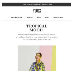 [Yoox] Tropical prints and colors galore!