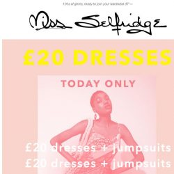 [Miss Selfridge] These £20 dresses want to hang with you 