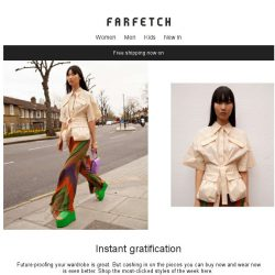 [Farfetch] Free shipping + this week's most-clicked pieces