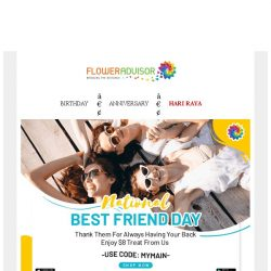 [Floweradvisor] Life Is Better With Friends. Let's Prepare This With $8 OFF!