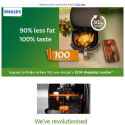 [PHILIPS] Get a $100 shopping voucher when you upgrade to Airfryer XXL!