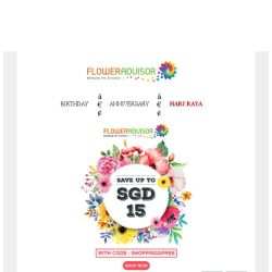 [Floweradvisor] Check out my new offers. You can get $15 Off!
