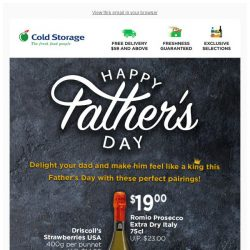 [Cold Storage] Best Wine & Dine Pairings for Dad!