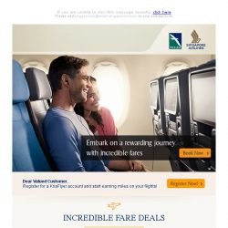 [Singapore Airlines] 1 week left to enjoy incredible fares