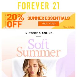 [FOREVER 21] Ease in to Summer
