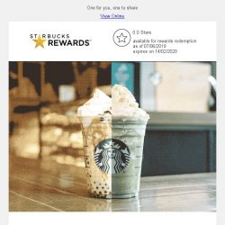 [Starbucks] Happy days ahead!✨ Your favorite 1-for-1 treat is coming 