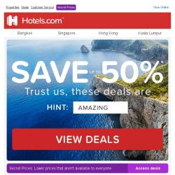 [Hotels.com] Save up to 50%