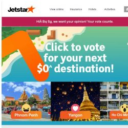 [Jetstar] Is it going to be $0^ to Yangon, Ho Chi Minh City or Phnom Penh? Vote now!