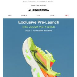 [LUISAVIAROMA] Nike ZoomX Vista Grind exclusive pre-launch June 11