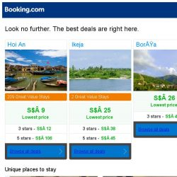[Booking.com] Hoi An, Ikeja, or Borşa? Get great deals, wherever you want to go
