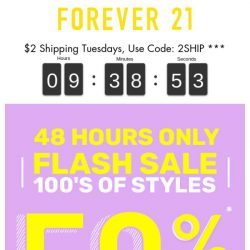 [FOREVER 21] ⚡FLASH SALE⚡ 100's of Summer Styles