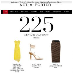 [NET-A-PORTER] 225 ways to wow in today's What's New