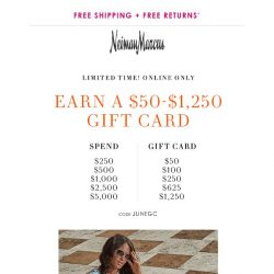 [Neiman Marcus] Don't miss your gift card