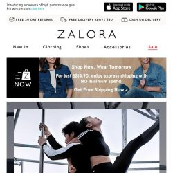 [Zalora] Exercise your style with EXTRA 30% Off