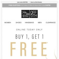 [Saks OFF 5th] BOGO FREE! You HAVE to shop fine jewelry today