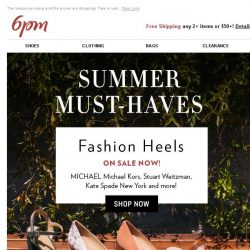 [6pm] Summer Must-Haves from MICHAEL Michael Kors, Stuart Weitzman & More!