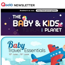 [Qoo10] Preparing For A Holiday? Save Time with These Baby Travel Essentials ALL Under $19.90 with Free Delivery NOW!