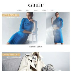 [Gilt] Alert: Up to 75% Off New Markdowns