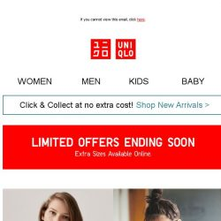 [UNIQLO Singapore] Limited Offers ending tonight 13 June!