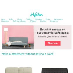 [HipVan] Stylish couch by day ☀, relaxing bed by night! 