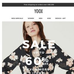 [Yoox] Sale: Up to 60% OFF even more items