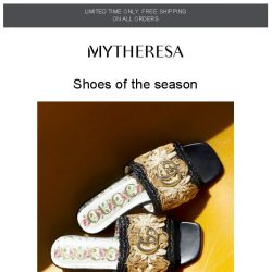 [mytheresa] Limited time free shipping + The FW19 shoe hotlist ft. Gucci, Valentino…