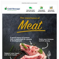 [Cold Storage]  3 Reasons Why Meat Is Good For You 